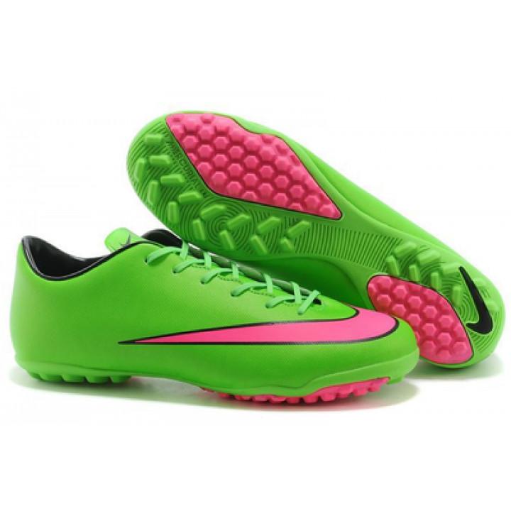 Сороконожки Nike mercurial, зеленый с красным